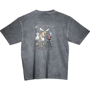 Mooster Chef T-Shirt - Large Back Print - Charcoal