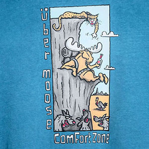 Comfort Zone T-Shirt - Large Back Print - Alaskan Blue