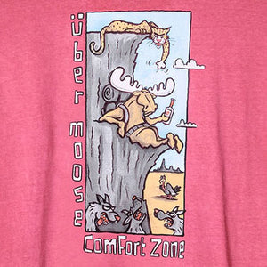 Comfort Zone T-Shirt - Large Back Print - Pink