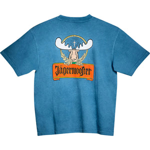 Jagermooster T-Shirt - Large Back Print - Alaskan Blue
