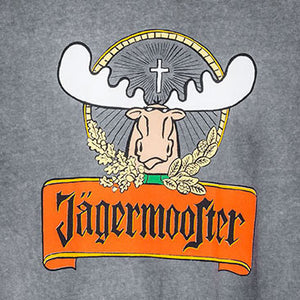 Jagermooster T-Shirt - Large Back Print - Charcoal