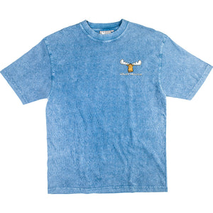 Happy Moose T-Shirt - Small Chest Print - Denim