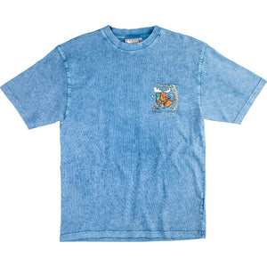 Hungover T-Shirt - Small Chest Print - Denim