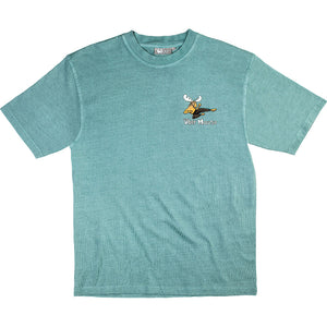 Moose Lee T-Shirt - Small Chest Print - Aqua