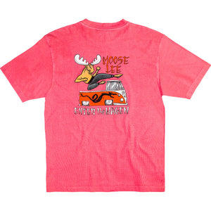 Moose Lee T-Shirt - Large Back Print - Pink