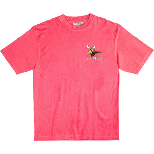 Moose Lee T-Shirt - Small Chest Print - Pink