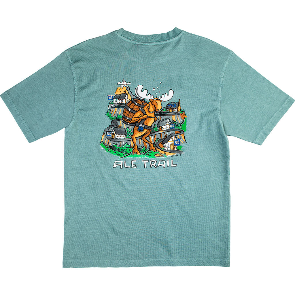 Ale Trail T-Shirt - Large Back Print - Aqua