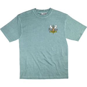 Hoof Dares T-Shirt - Small Chest Print - Aqua
