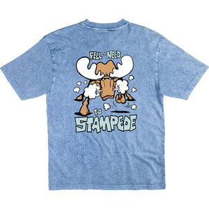 Stampede T-Shirt - Large Back Print - Denim