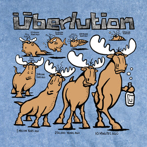 Überlution T-Shirt - Large Back Print - Denim