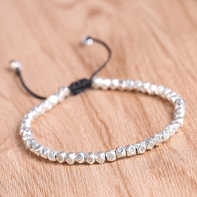 Tibetan Multi-faceted Silver Beads