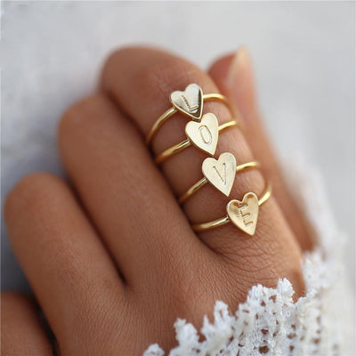 Love Words Initial Alphabet Ring