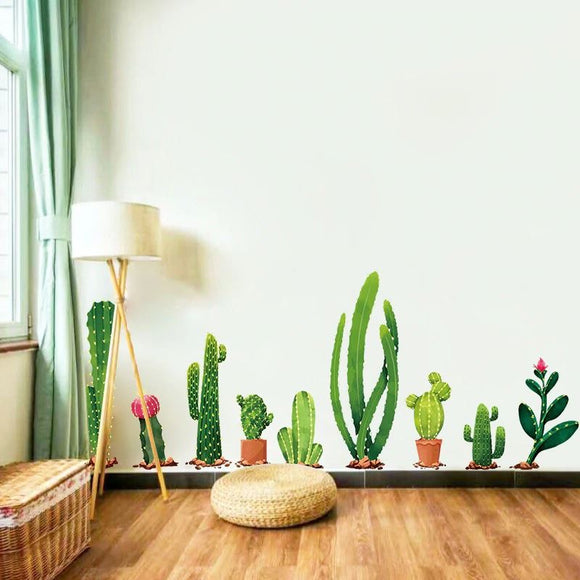 Cactus Plant Wall Stickers