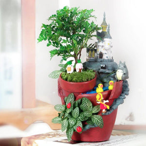 Creative Castle and Farmhouse Fairytale Garden Planter