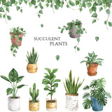 Mixed Houseplants Wall Stickers
