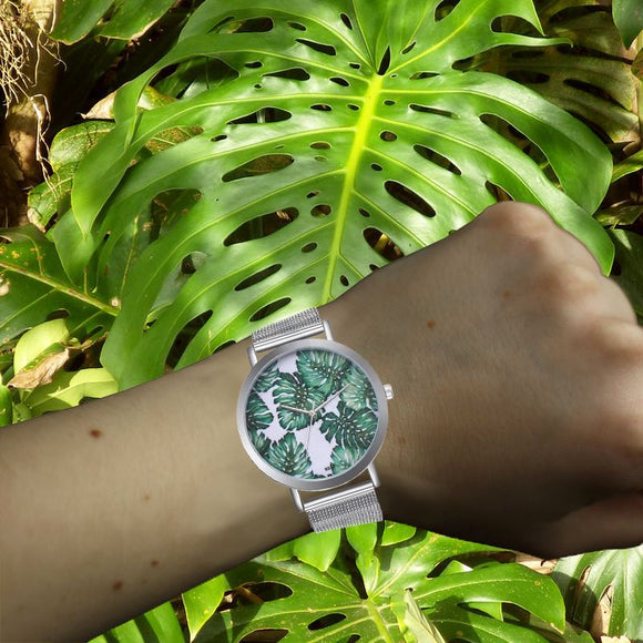Monstera Leaves Ladies Watch