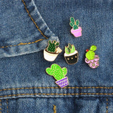 Set 5 Style Cactus and Succulent Pins