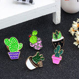 Cactus and Succulent Brooches Pins