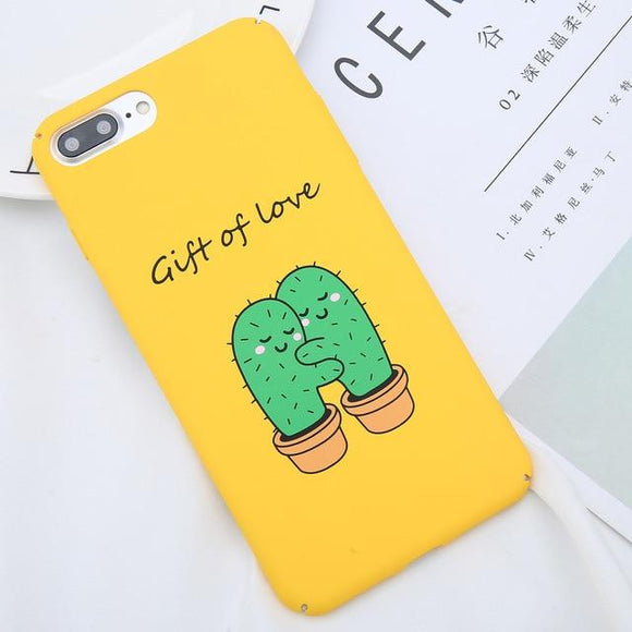 Cute Cactus Print Phone Cases for iPhone