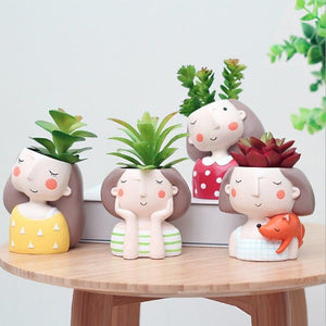 Set 2Pcs Succulent Planter Sisters