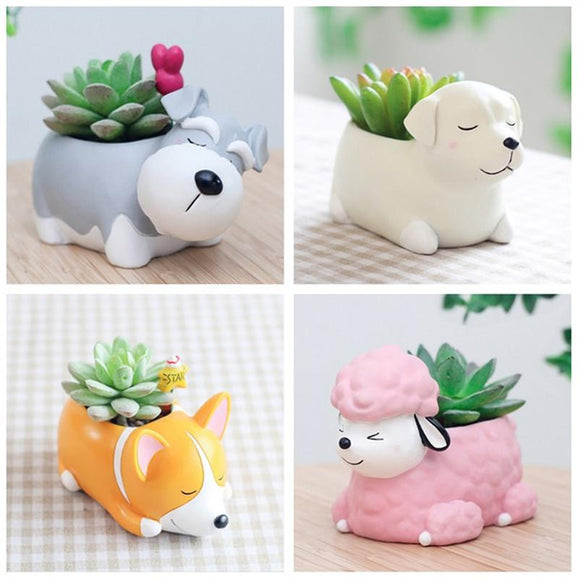 Dog Puppy Planter Pots - 8 Styles