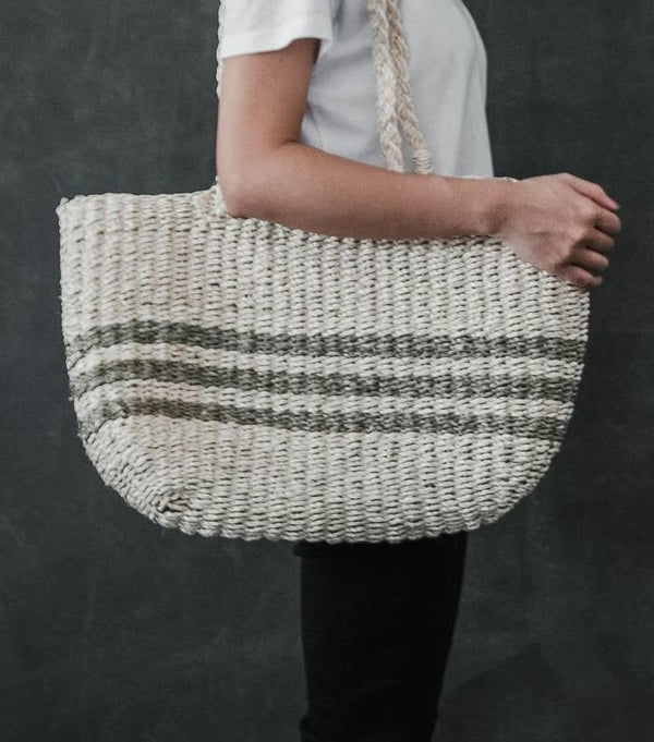 """Audrey"" Large Size Palm Leaf/Seagrass Bag"