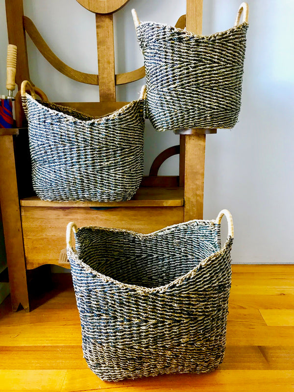 Seagrass Large Storage Baskets in Set of 3
