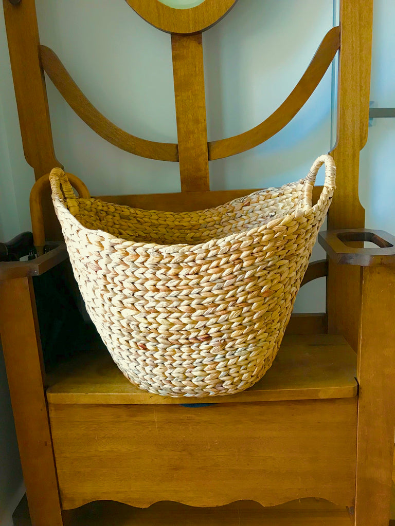 Water Hyacinth Natural Storage baskets. Choice of  3  Sizes