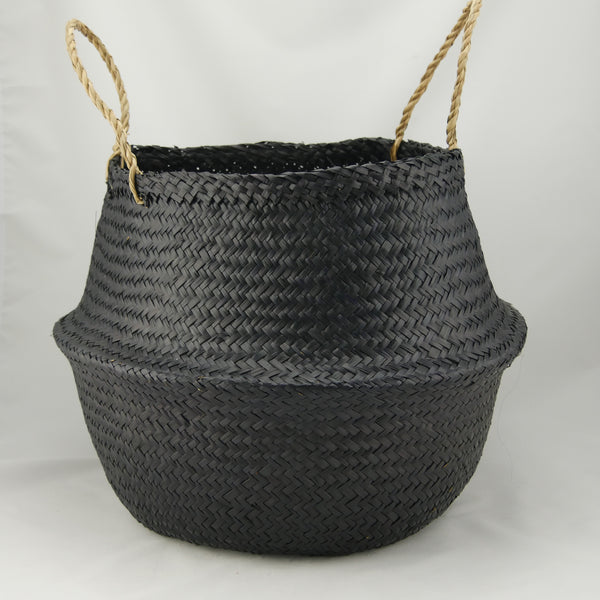Flat Seagrass Popup Rice Belly Basket