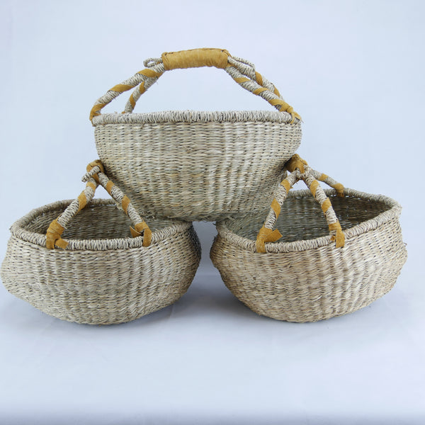 MEDIUM Round Baskets NATURAL
