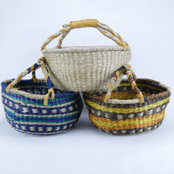 MEDIUM Round Baskets 3 Colours Set of 3