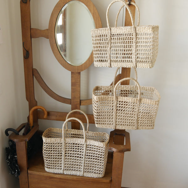 Retro Seagrass Net Rectangle Baskets
