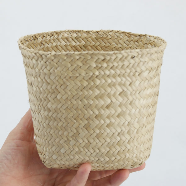 Small Flat Seagrass Basket