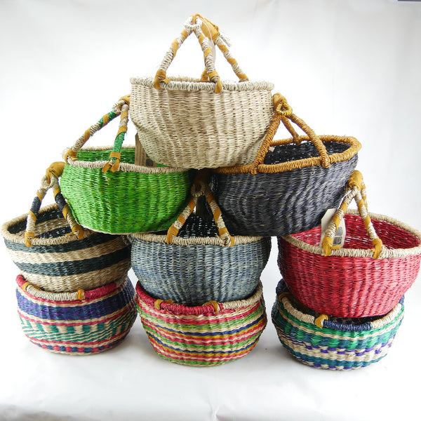 Small Round Basket Set seagrass