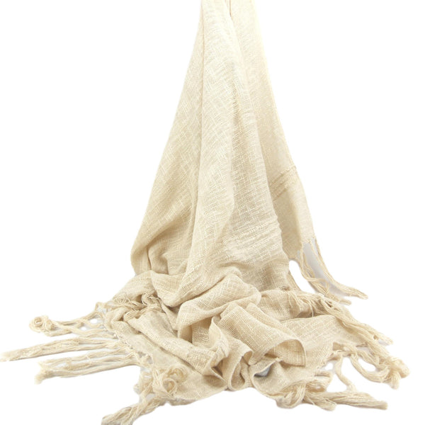 Natural Cotton Slub Throw