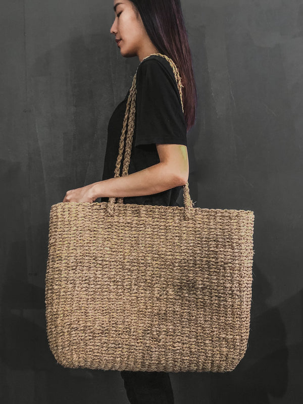 Seagrass handcrafted fashion market bag