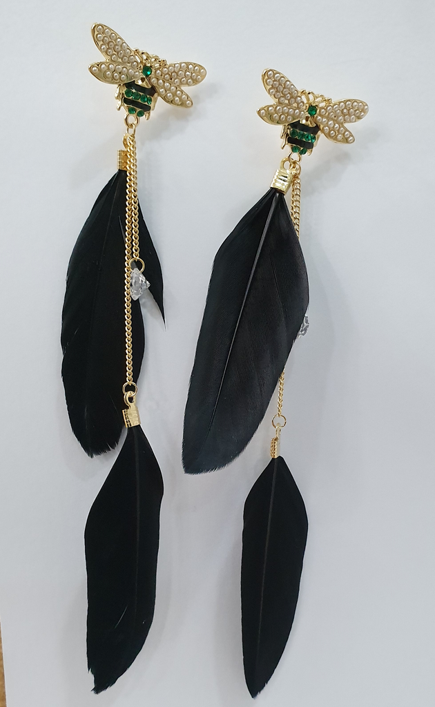 Black Feathers Earrings