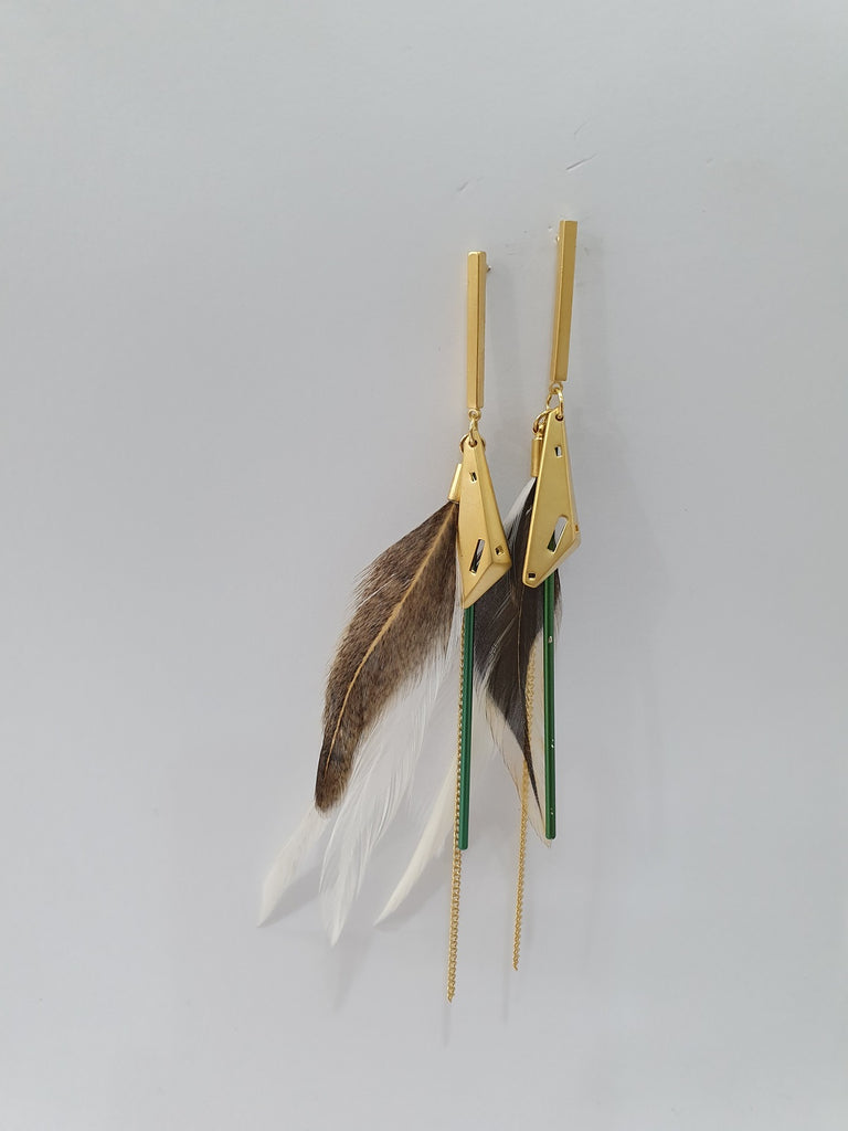 Feathered Earrings  Multicolor