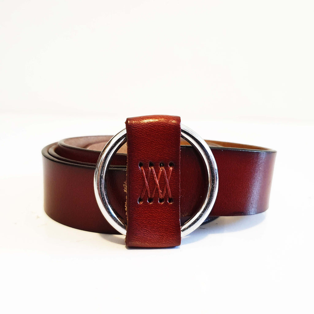 Thk Belt Tan Ring Brown