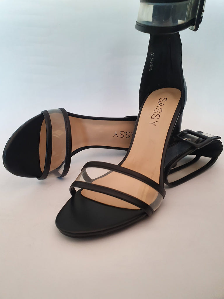 Percy PVC Sandals  Blk  Size 41