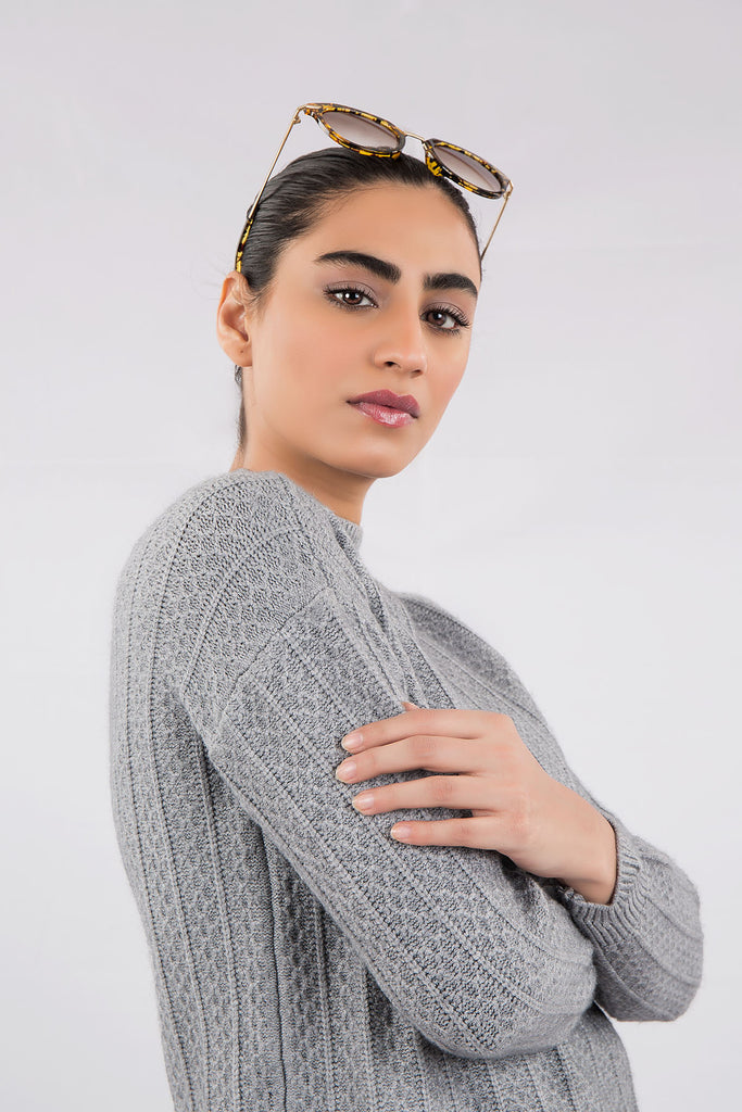 Tiffany Knit Sweater (Graphite Grey)