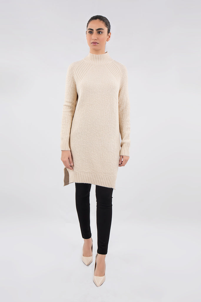 Minx Long Sweater  (Off-White)