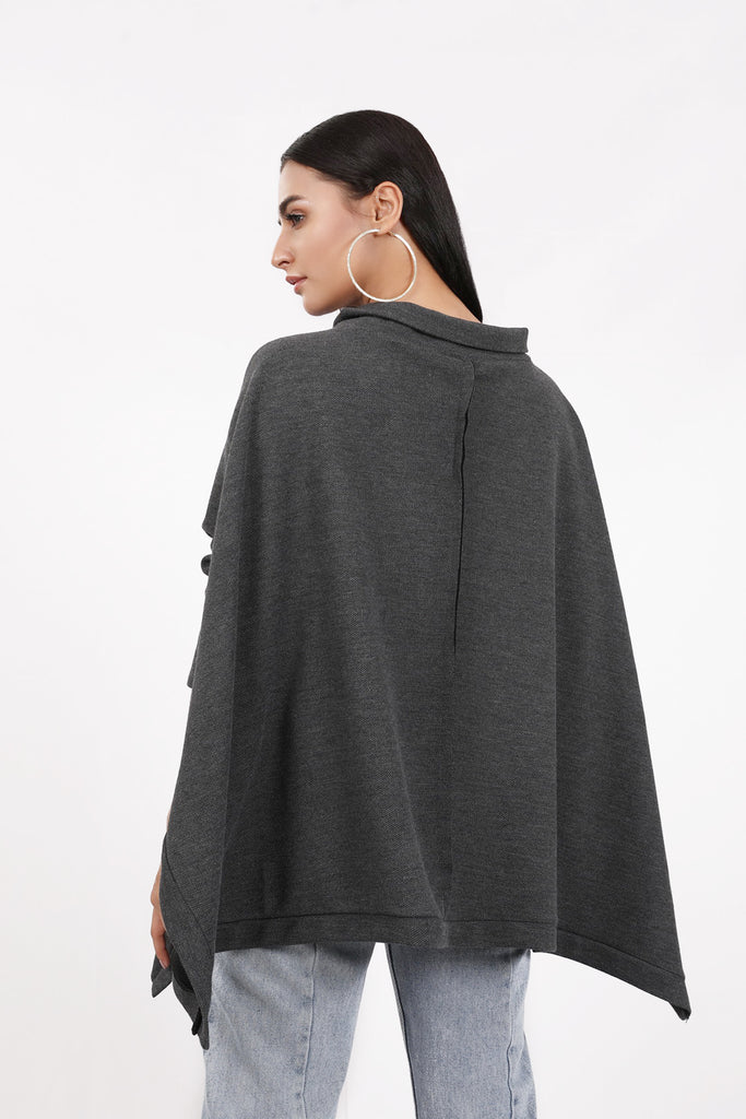 Tamara Knit Poncho (Grey)