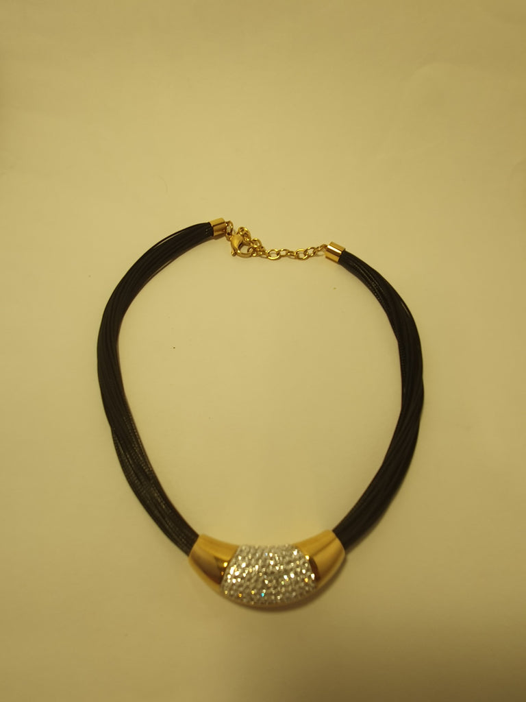 Black Diamente Necklace