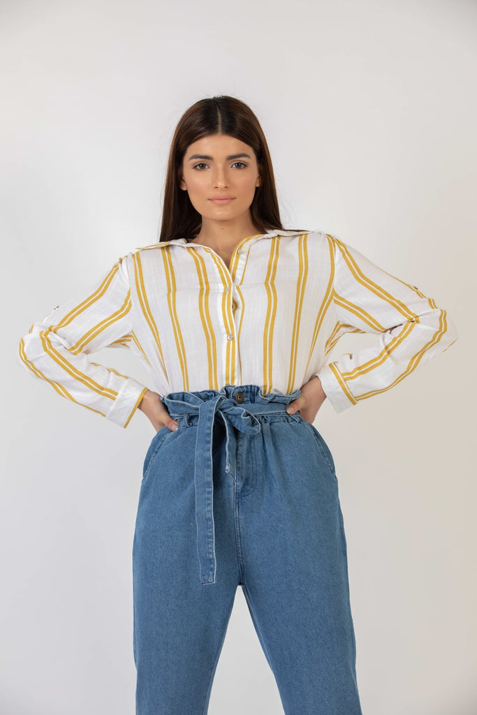 Popsicle Button Down Yellow