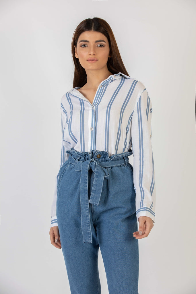 Popsicle Button Down Blue