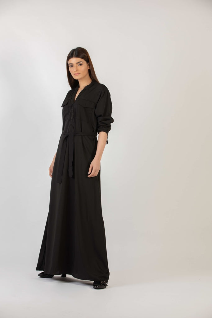Sandra Long Dress Black