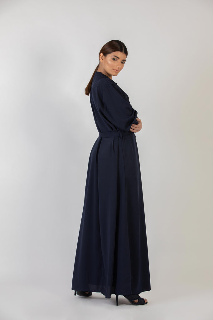 Sandra Long Dress Navy