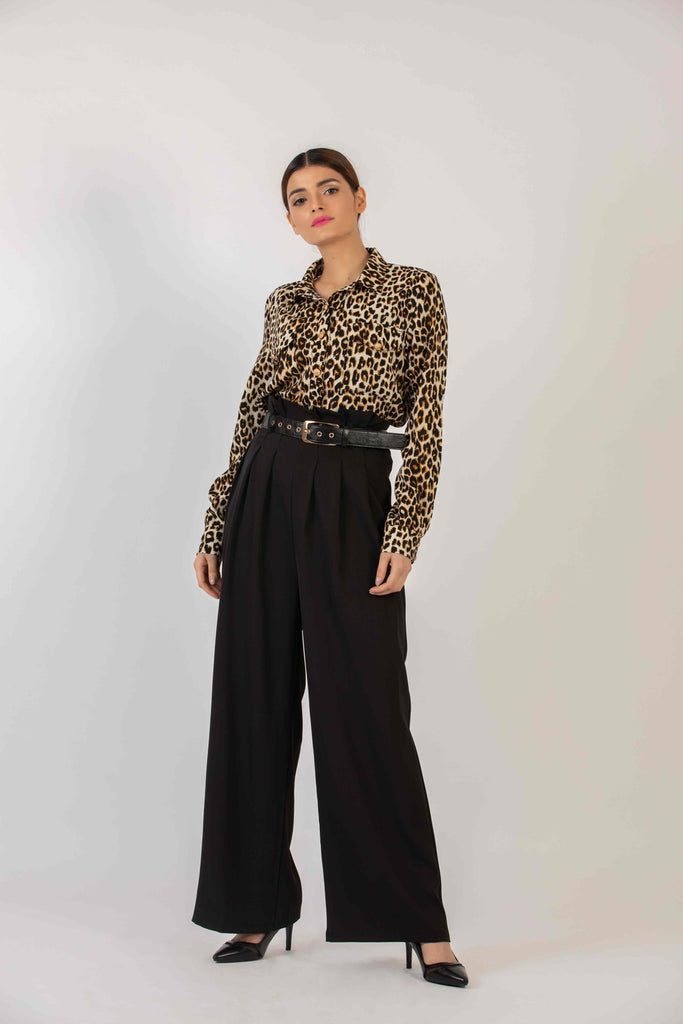 Medusa Button Down Leopard