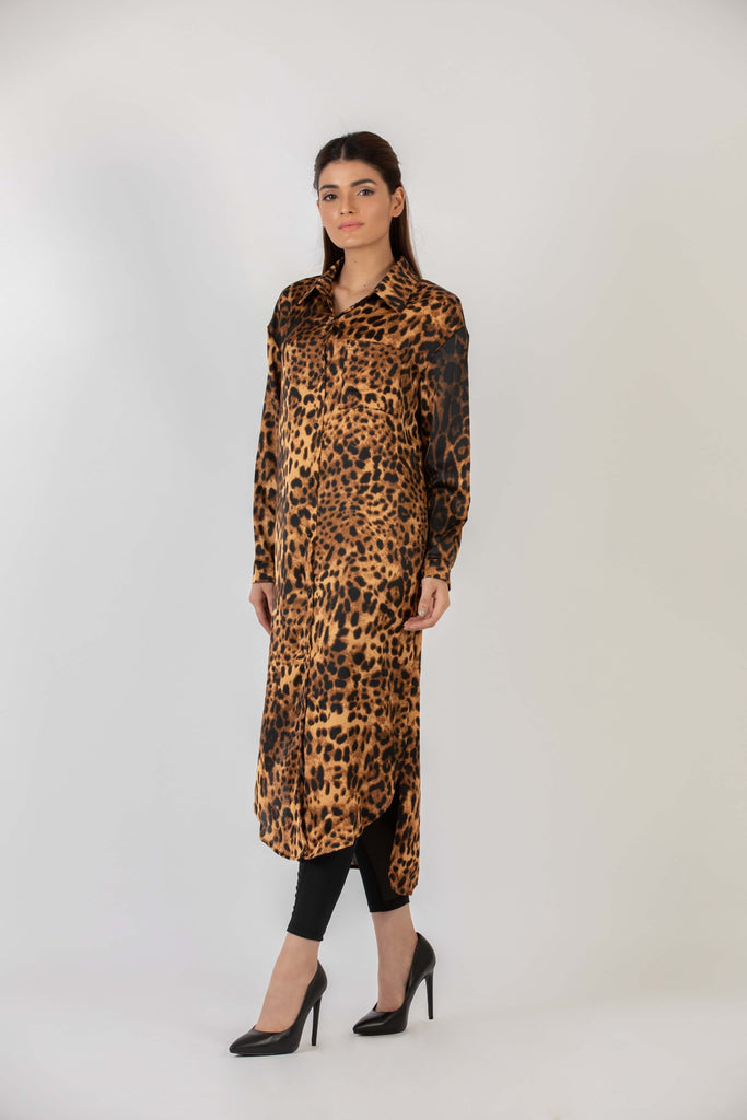 Cheeky Cheetah Shirt Dress